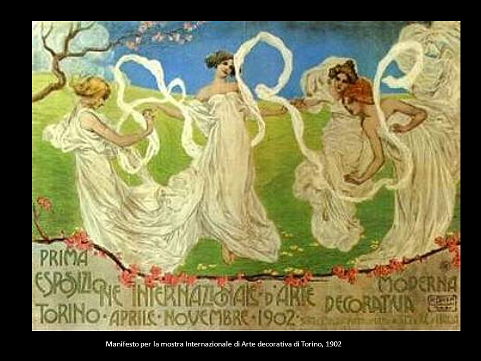 Manifesto per la mostra Internazionale di Arte decorativa di Torino, 1902