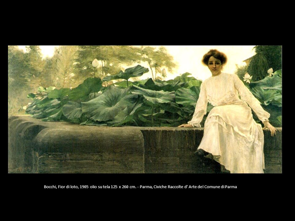 Bocchi, Fior di loto, 1905 olio su tela 125 x 260 cm