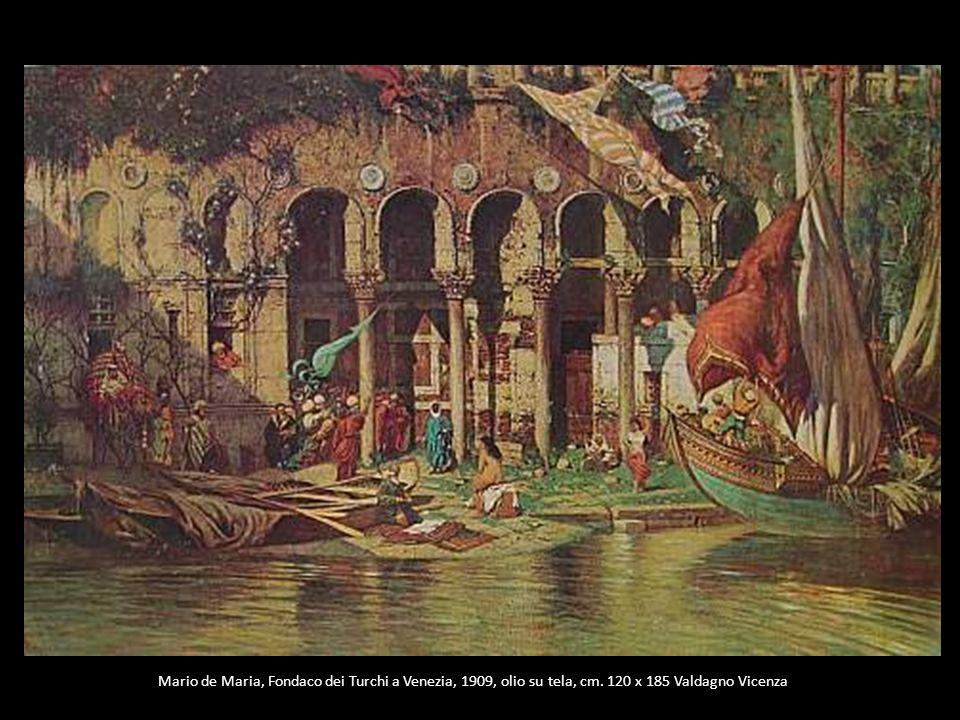 Mario de Maria, Fondaco dei Turchi a Venezia, 1909, olio su tela, cm