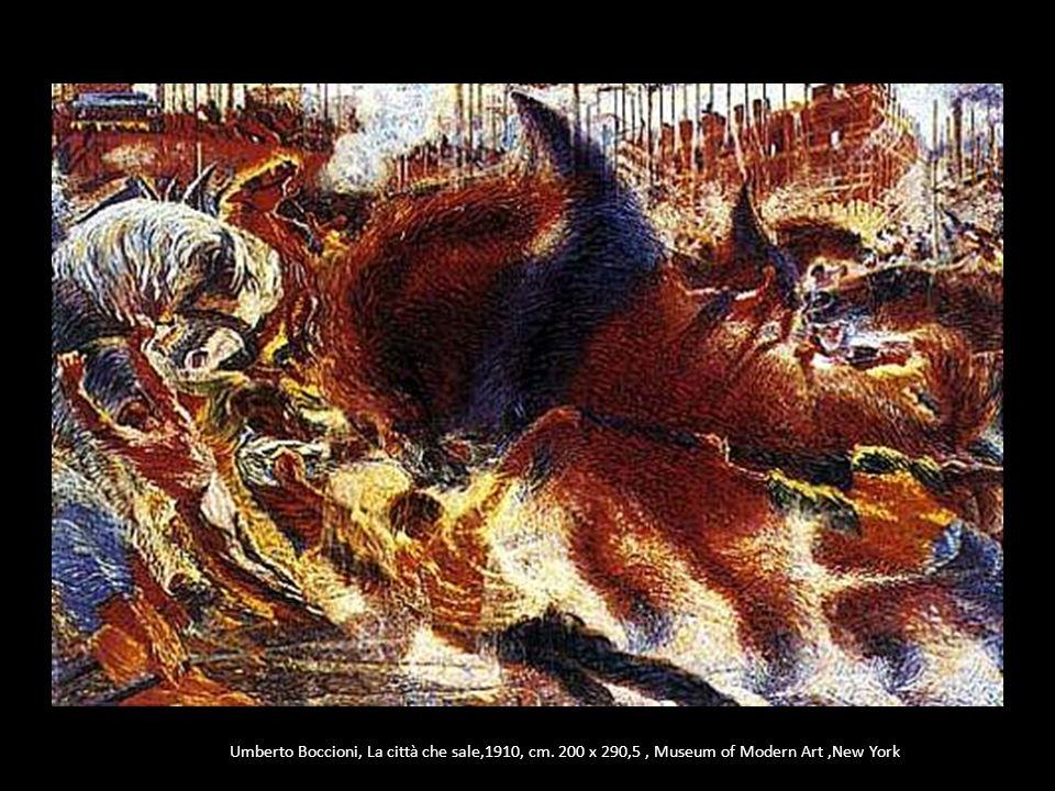 Umberto Boccioni, La città che sale,1910, cm