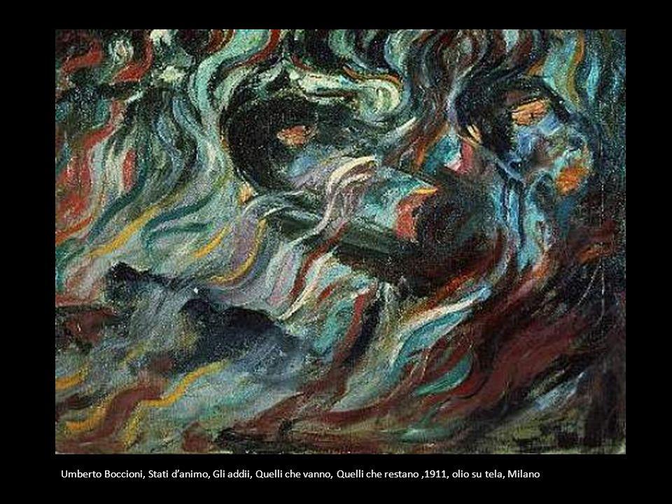 Umberto Boccioni, Stati d'animo, Gli addii, Quelli che vanno, Quelli che restano ,1911, olio su tela, Milano
