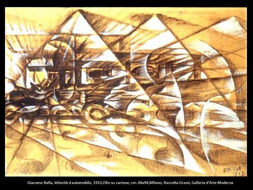 Giacomo Balla, Velocità d automobile, 1913,Olio su cartone, cm