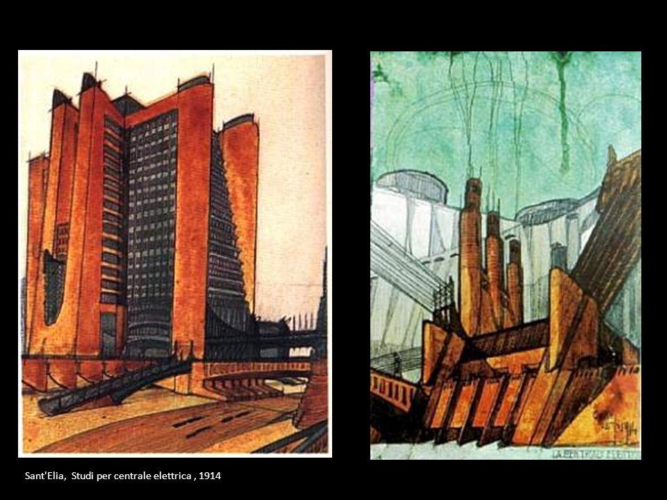 Sant Elia, Studi per centrale elettrica , 1914