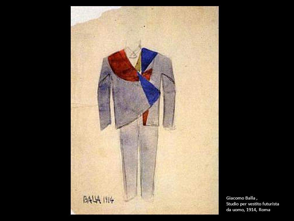 Giacomo Balla , Studio per vestito futurista da uomo, 1914, Roma