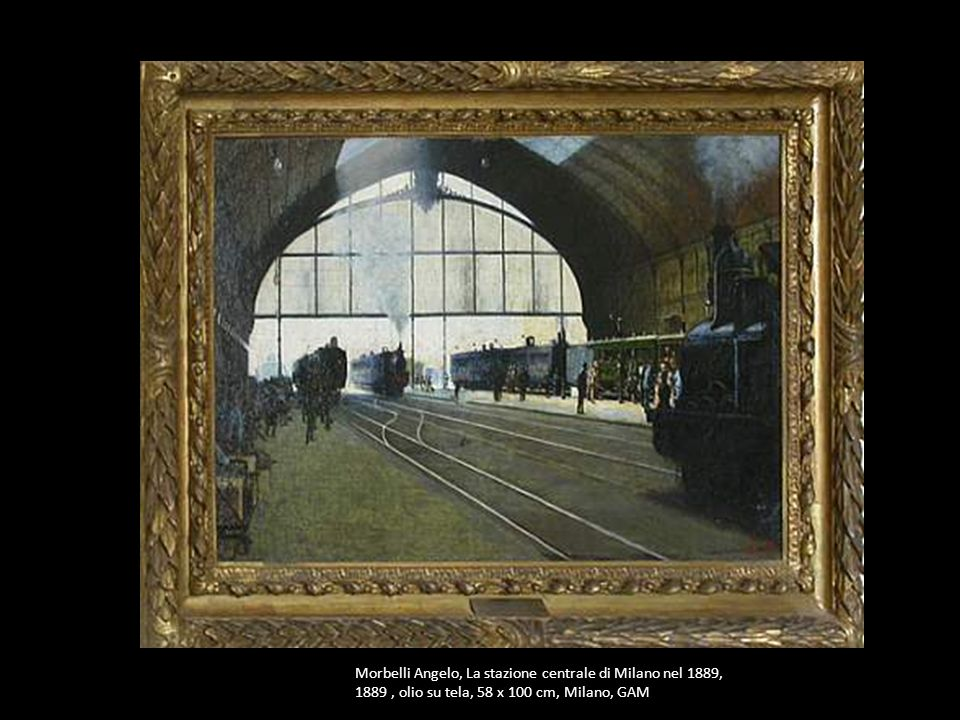 Morbelli Angelo, La stazione centrale di Milano nel 1889,