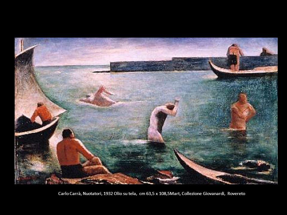 Carlo Carrà, Nuotatori, 1932 Olio su tela, cm 63,5 x 108,5Mart, Collezione Giovanardi, Rovereto