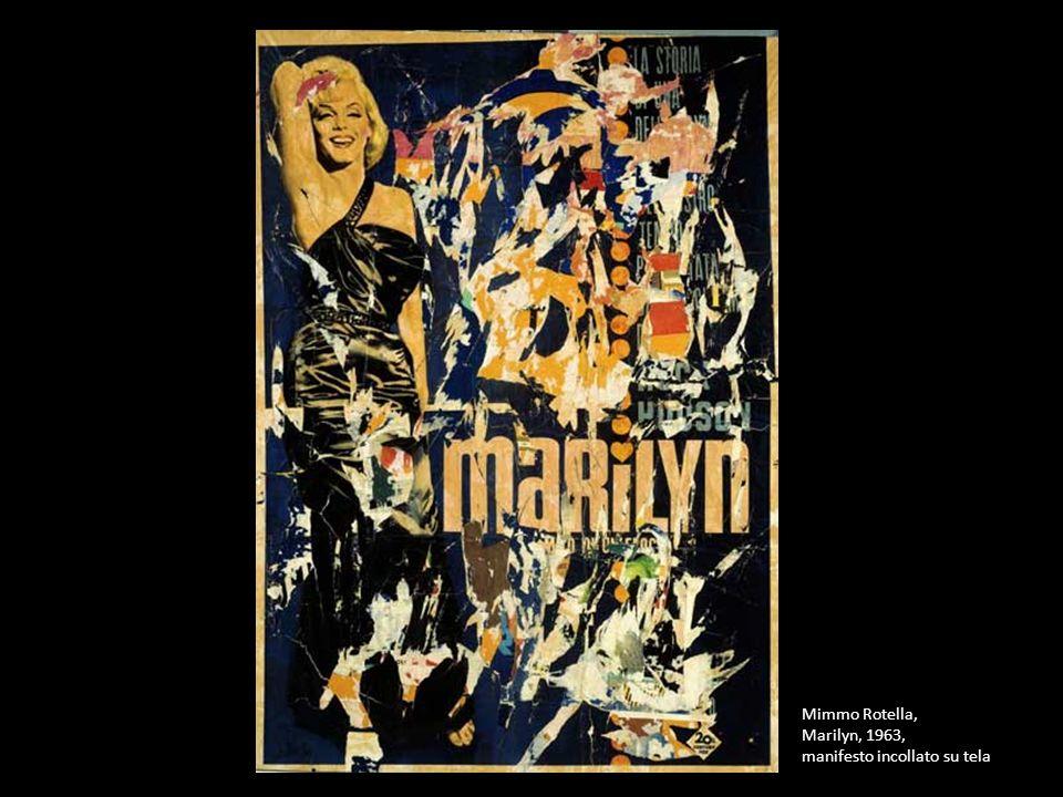 Mimmo Rotella, Marilyn, 1963, manifesto incollato su tela