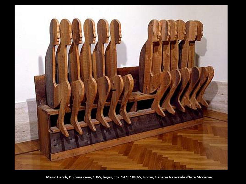 Mario Ceroli, L'ultima cena, 1965, legno, cm