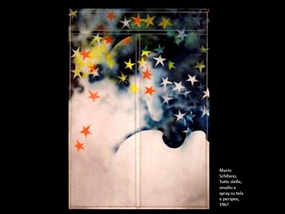 Mario Schifano, Tutte stelle, smalto e spray su tela e perspex, 1967