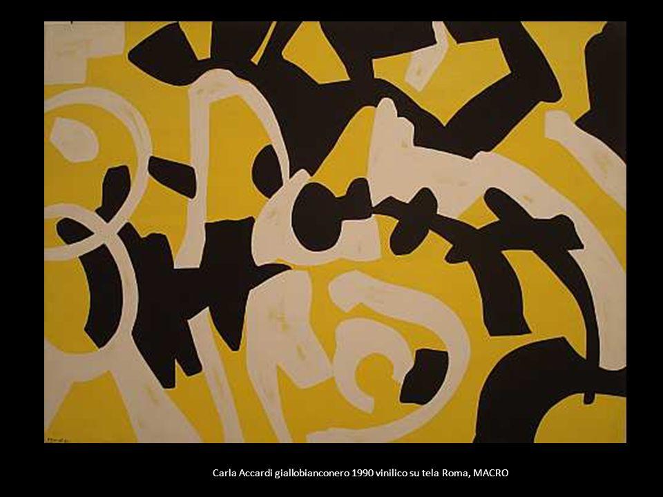 Carla Accardi giallobianconero 1990 vinilico su tela Roma, MACRO