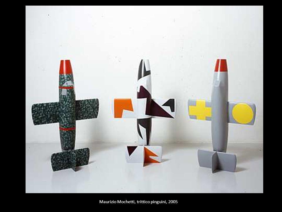 Maurizio Mochetti, trittico pinguini, 2005