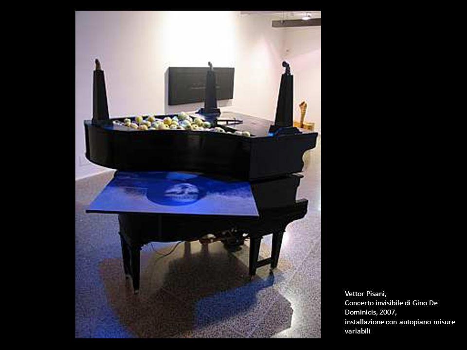 Vettor Pisani, Concerto invisibile di Gino De Dominicis, 2007, installazione con autopiano misure variabili.