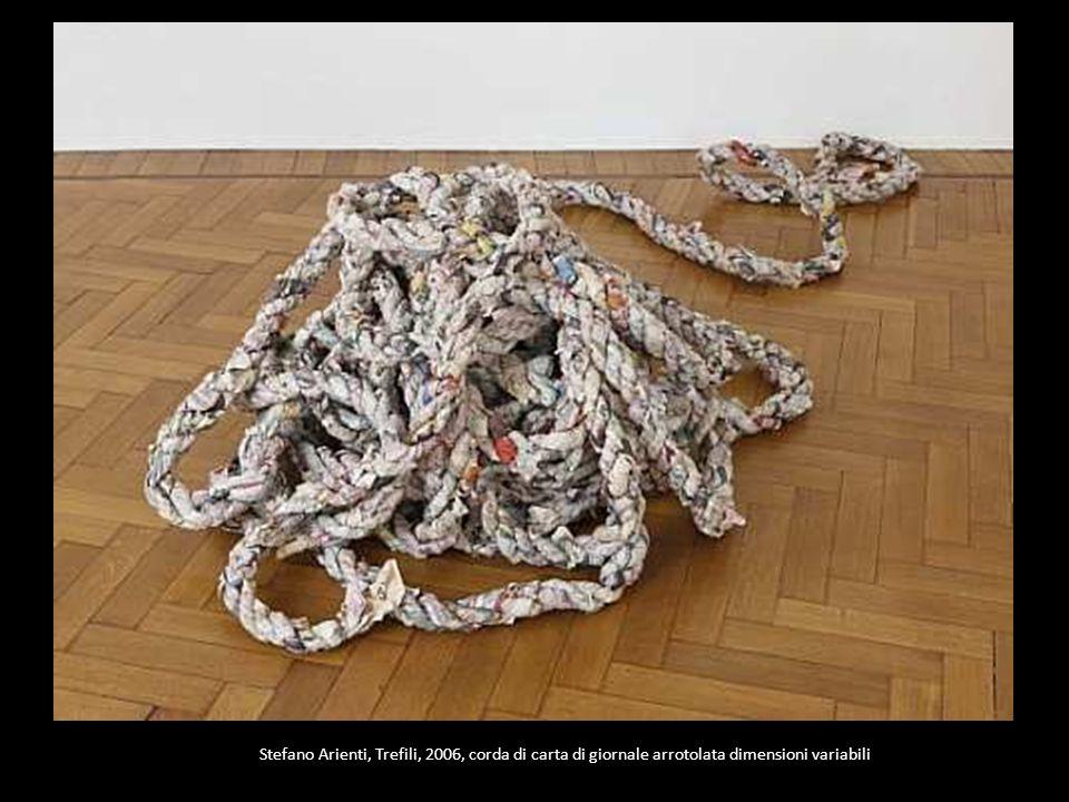 Stefano Arienti, Trefili, 2006, corda di carta di giornale arrotolata dimensioni variabili