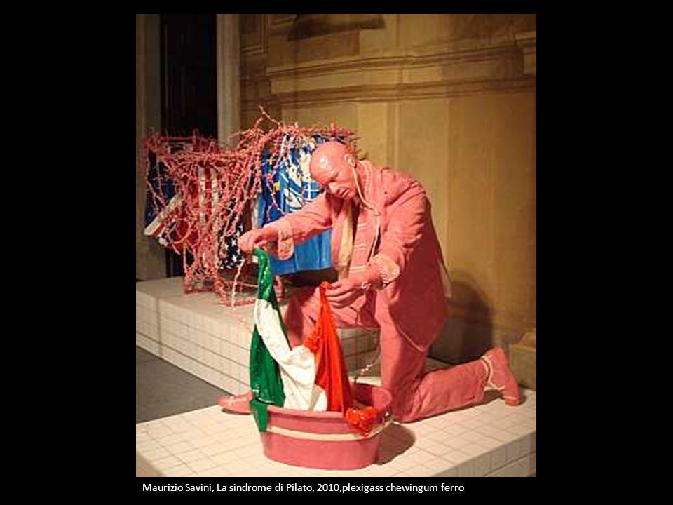 Maurizio Savini, La sindrome di Pilato, 2010,plexigass chewingum ferro