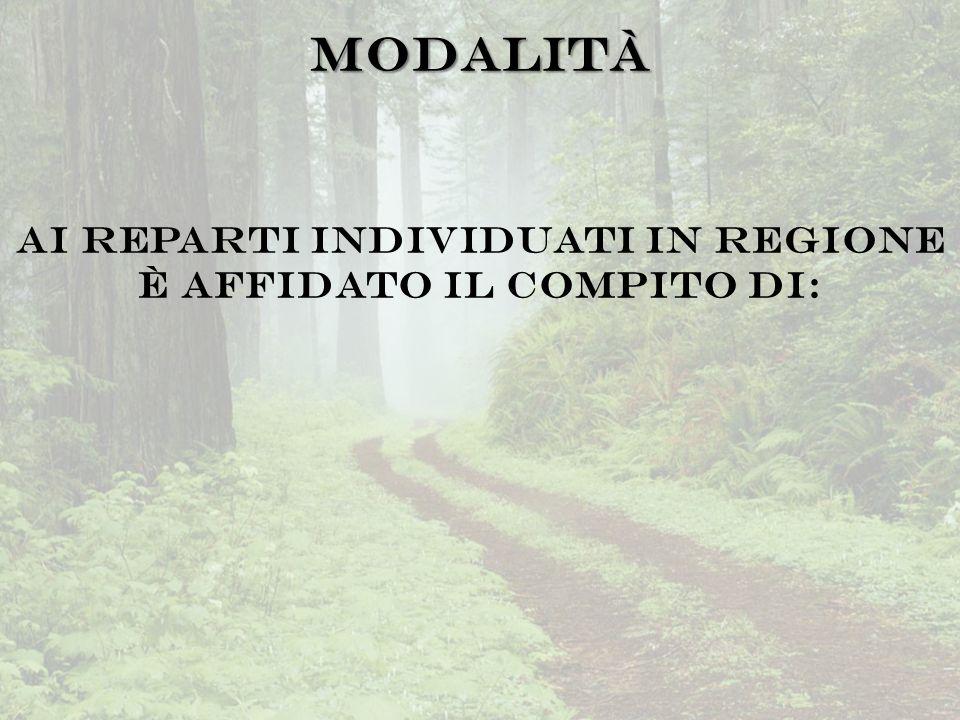 Ai Reparti individuati in regione è affidato il compito di: