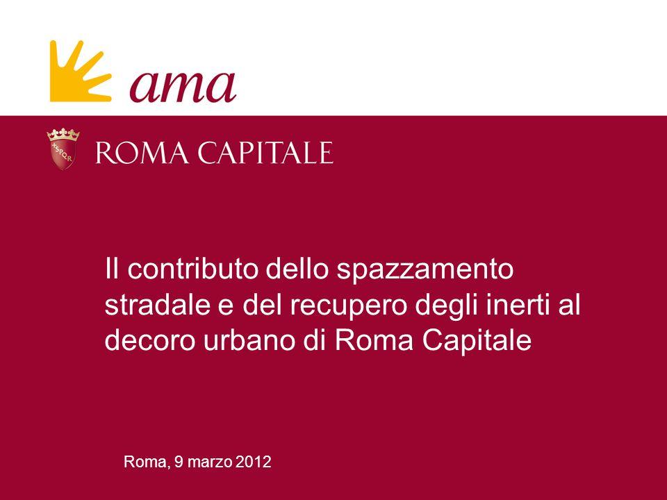 Il contributo dello spazzamento stradale e del recupero degli inerti al decoro urbano di Roma Capitale