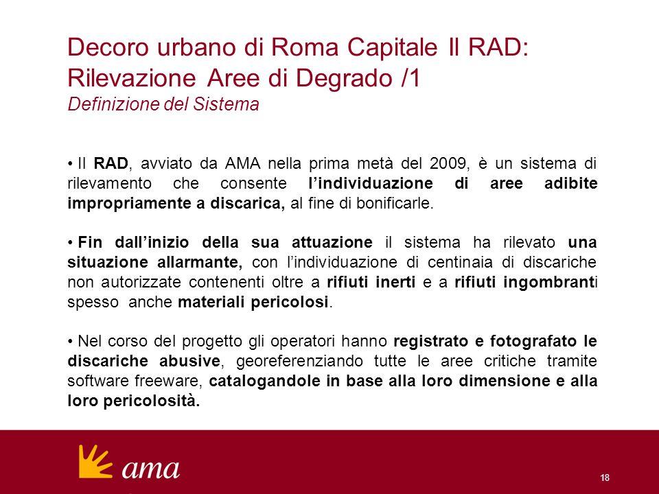 Decoro urbano di Roma Capitale Il RAD: Rilevazione Aree di Degrado /1
