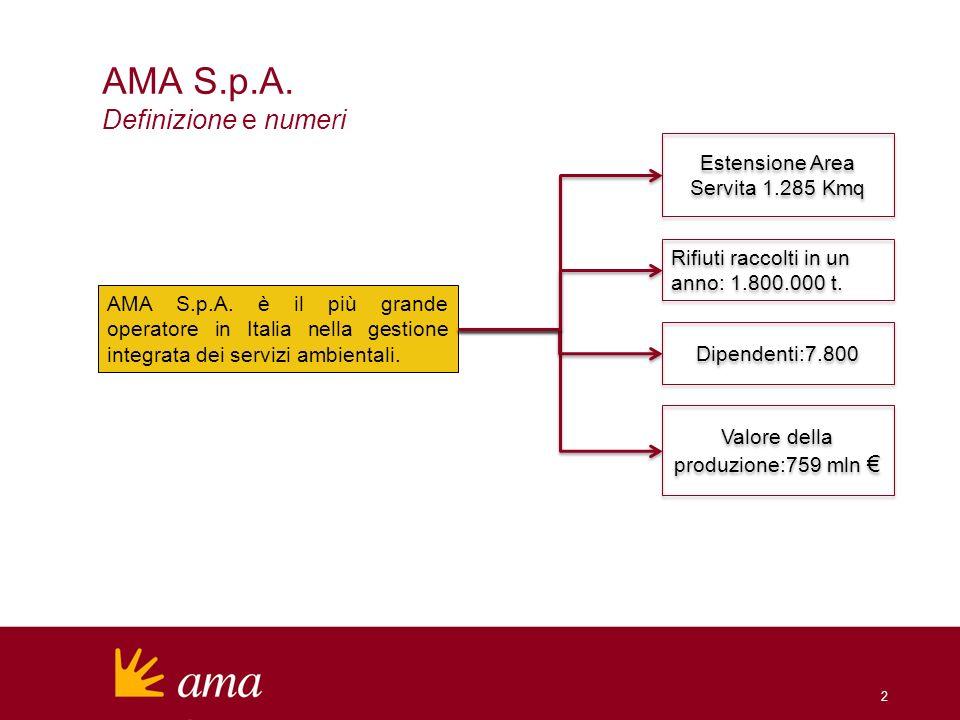 AMA S.p.A. Definizione e numeri