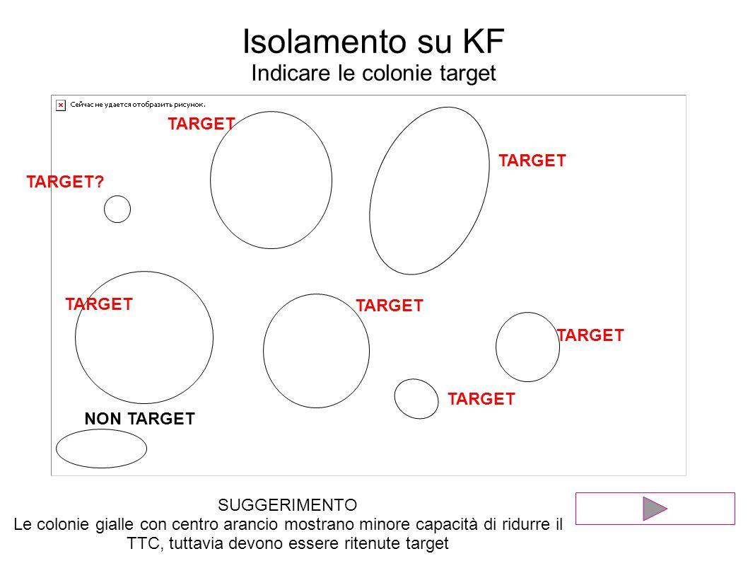 Isolamento su KF Indicare le colonie target