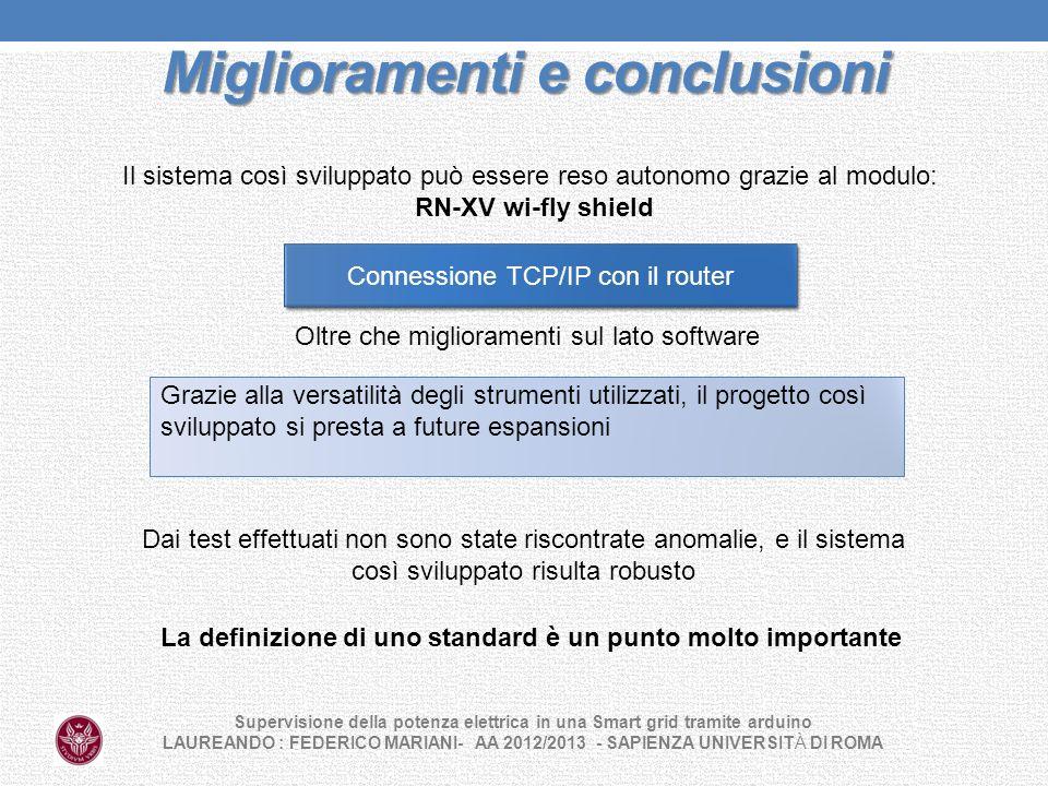 Miglioramenti e conclusioni