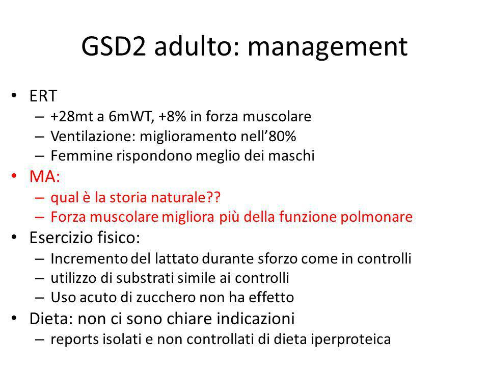 GSD2 adulto: management