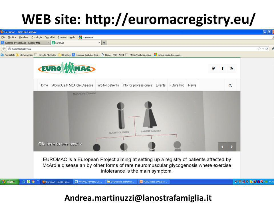 WEB site: http://euromacregistry.eu/