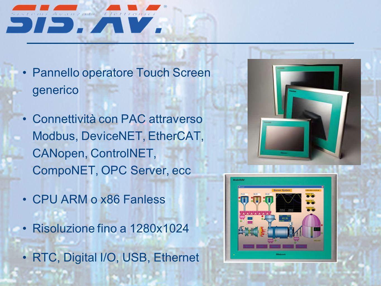 Pannello operatore Touch Screen generico