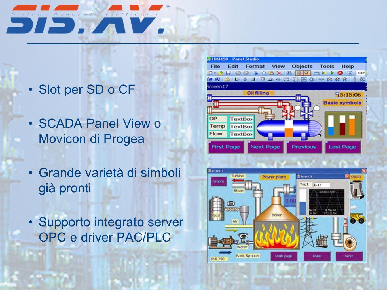Slot per SD o CF SCADA Panel View o Movicon di Progea.