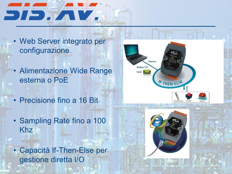 Web Server integrato per configurazione
