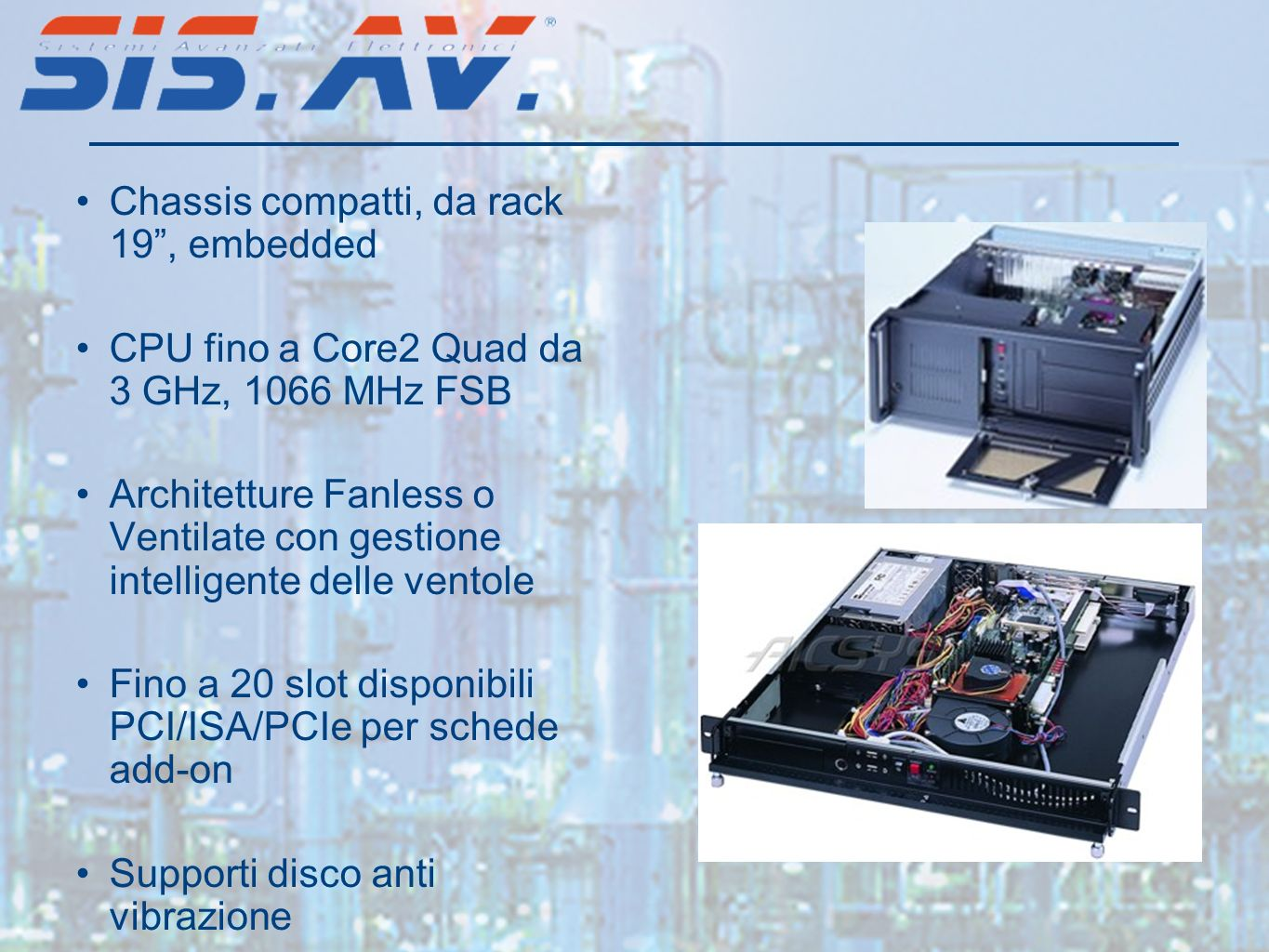 Chassis compatti, da rack 19 , embedded