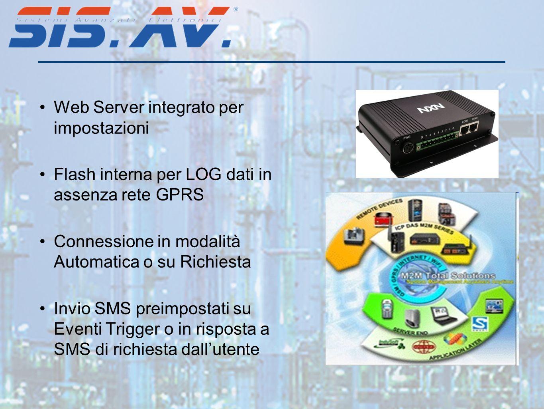 Web Server integrato per impostazioni