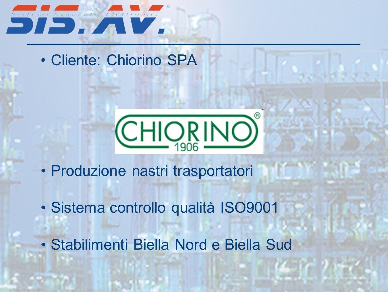 Cliente: Chiorino SPA Produzione nastri trasportatori.