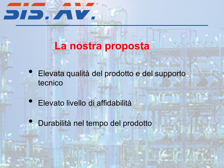 La nostra proposta Elevata qualità del prodotto e del supporto tecnico