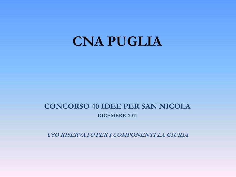 CNA PUGLIA CONCORSO 40 IDEE PER SAN NICOLA