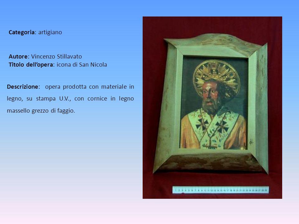 Autore: Vincenzo Stillavato Titolo dell'opera: icona di San Nicola