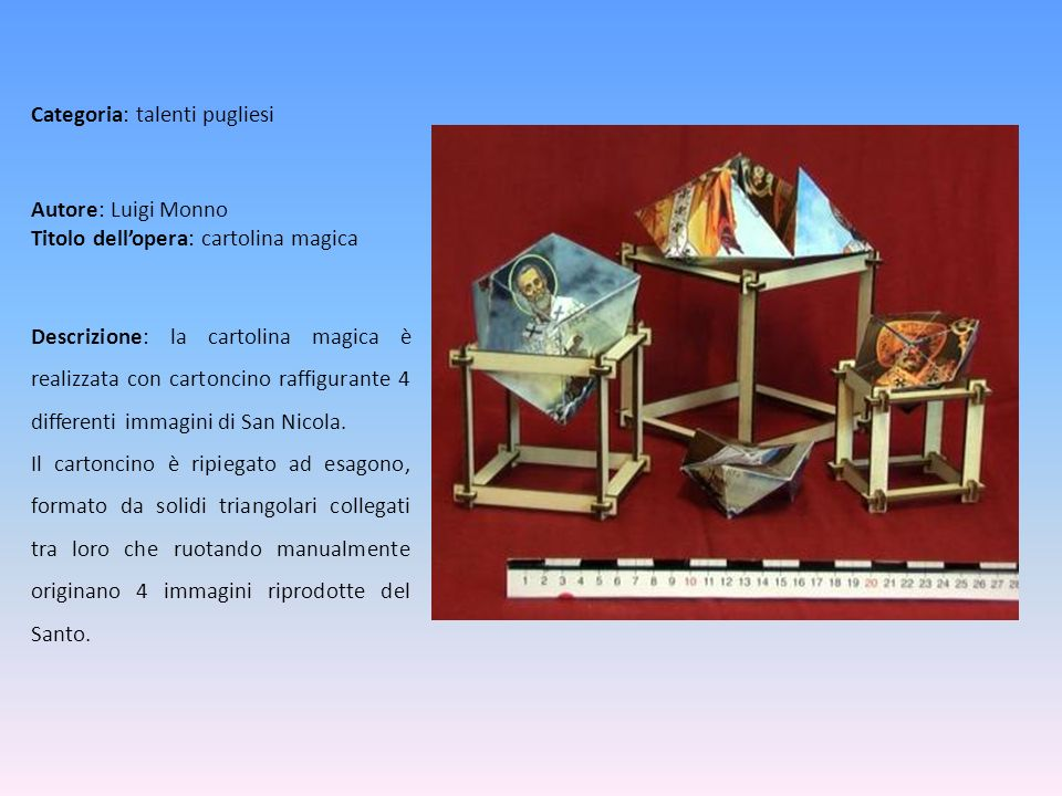 Autore: Luigi Monno Titolo dell'opera: cartolina magica
