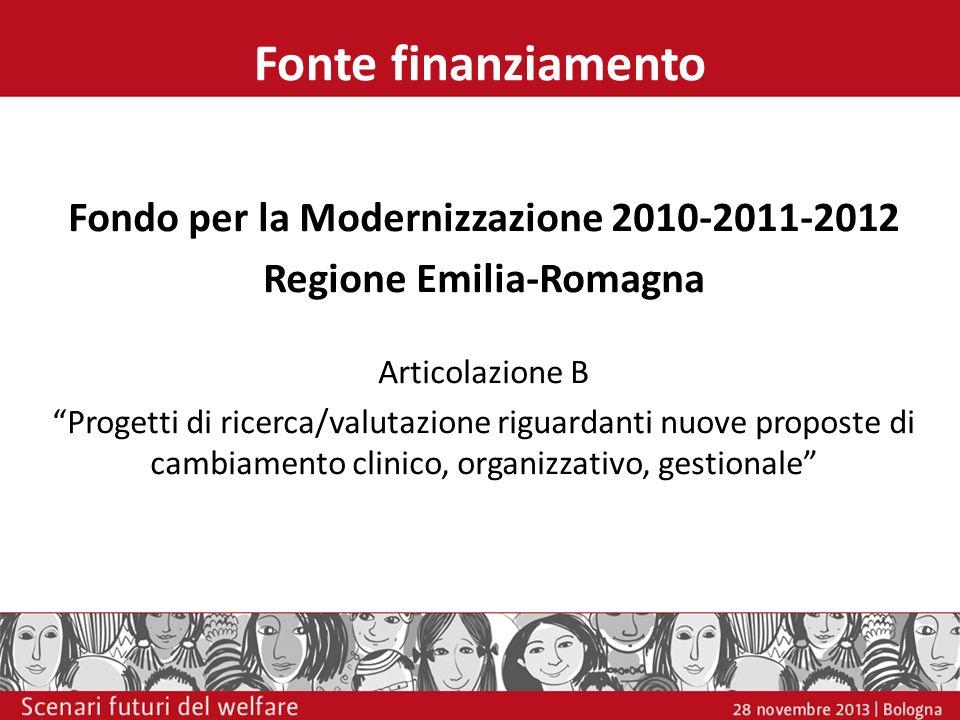 Fondo per la Modernizzazione 2010-2011-2012 Regione Emilia-Romagna