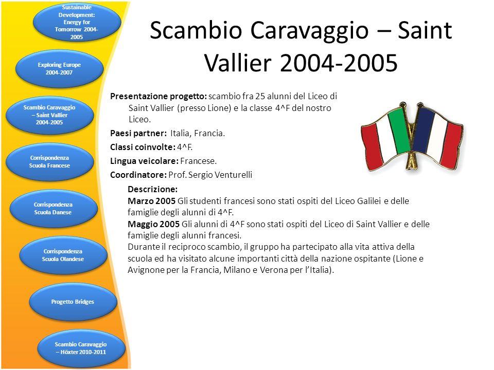 Scambio Caravaggio – Saint Vallier 2004-2005
