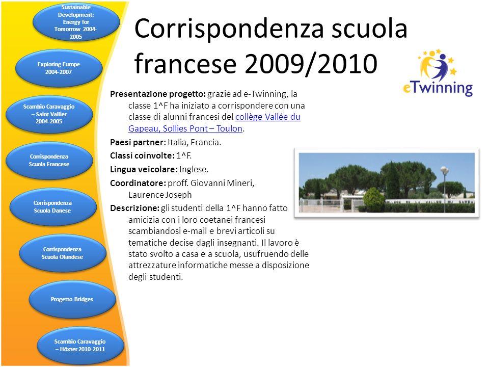 Corrispondenza scuola francese 2009/2010