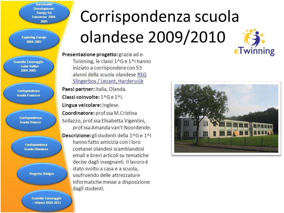 Corrispondenza scuola olandese 2009/2010