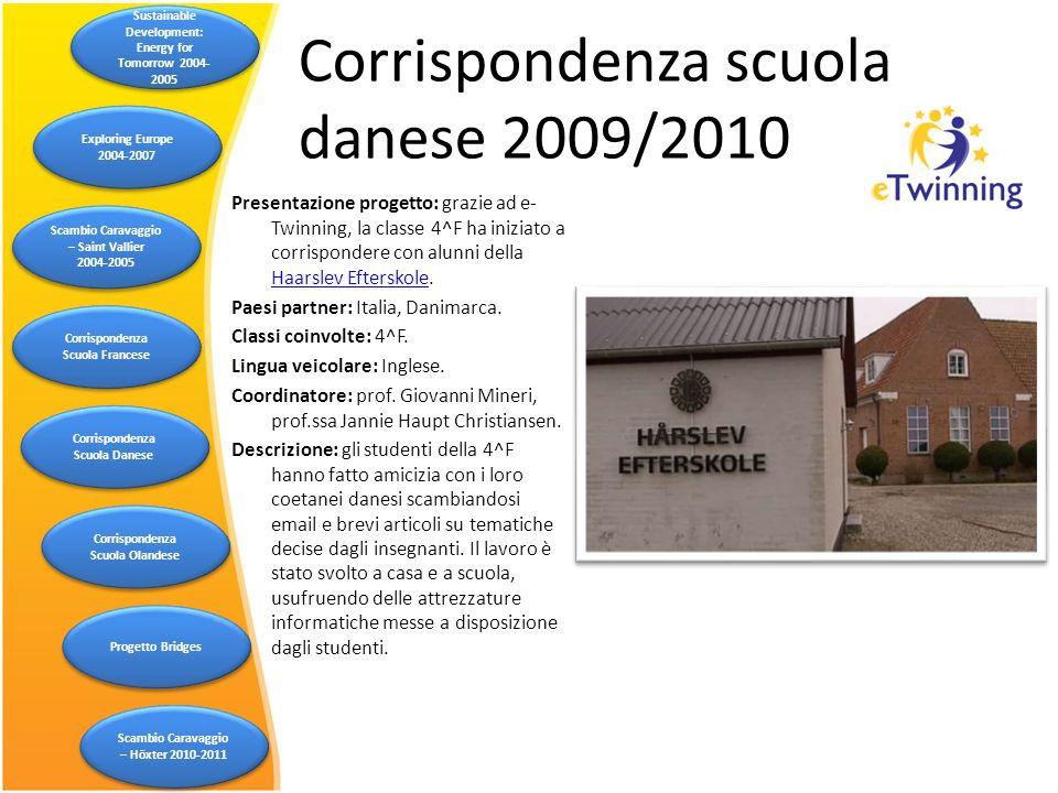 Corrispondenza scuola danese 2009/2010