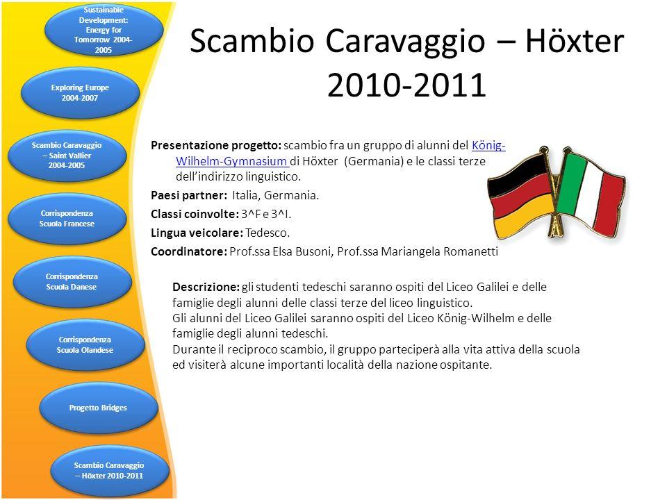 Scambio Caravaggio – Höxter 2010-2011