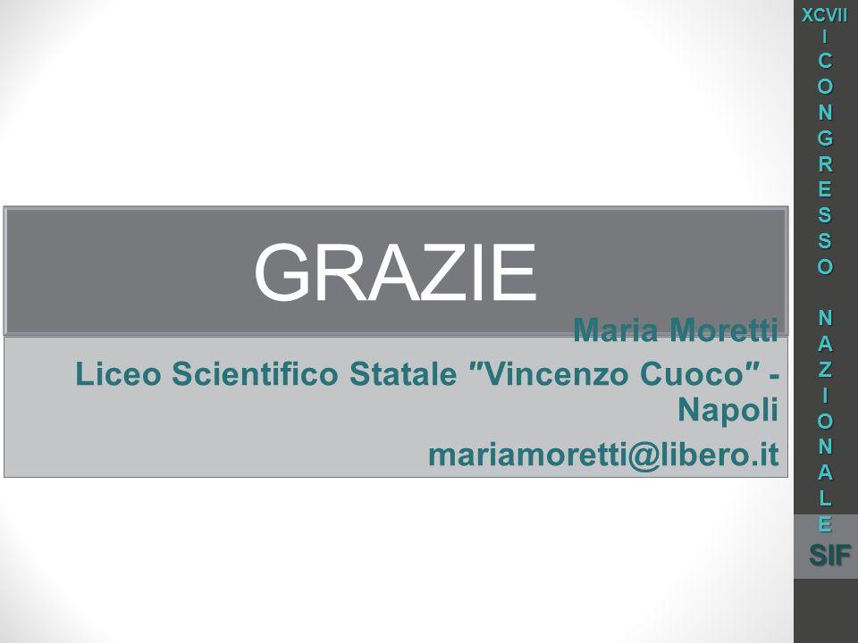 XCVIII C. O. N. G. R. E. S. A. Z. I. L. SIF. grazie. Maria Moretti. Liceo Scientifico Statale ″Vincenzo Cuoco″ - Napoli.