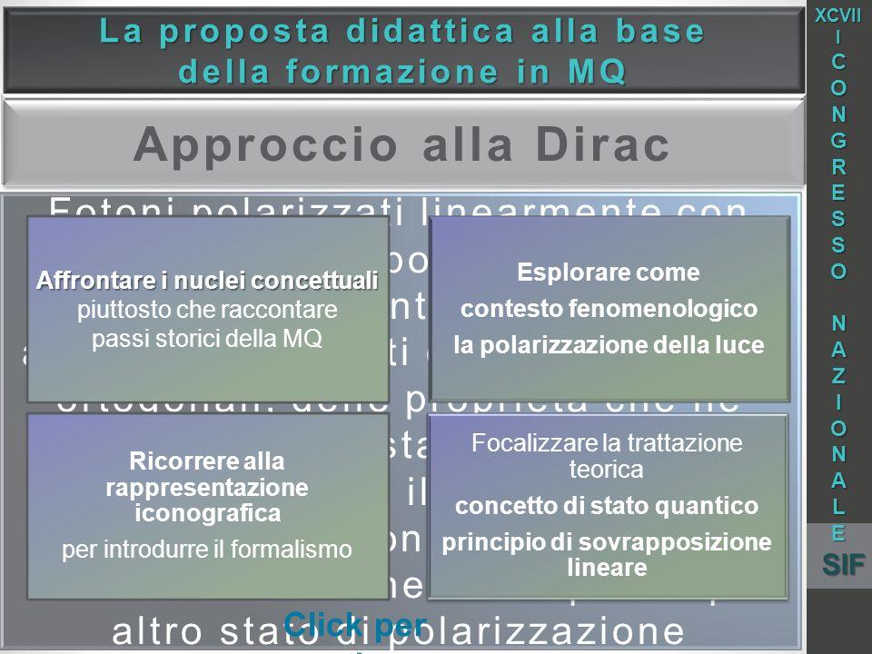 La proposta didattica alla base Affrontare i nuclei concettuali