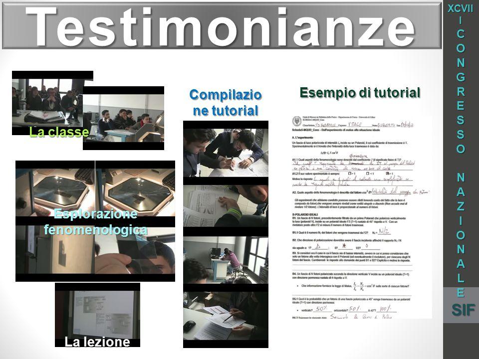 Compilazione tutorial Esplorazione fenomenologica