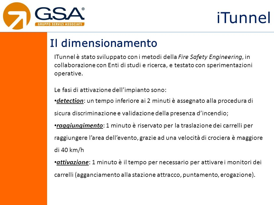 iTunnel Il dimensionamento