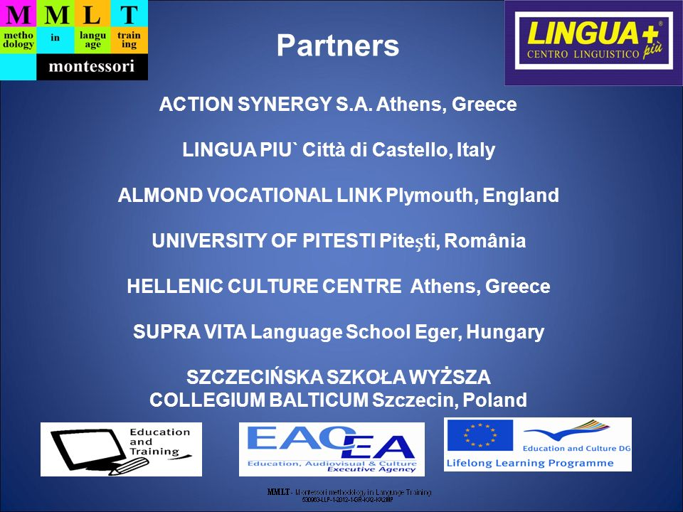 Partners ACTION SYNERGY S.A. Athens, Greece