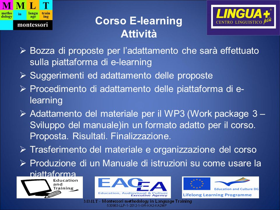 Corso E-learning Attività