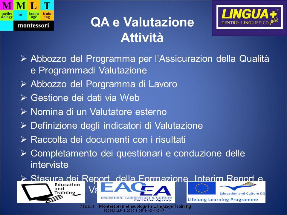 QA e Valutazione Attività