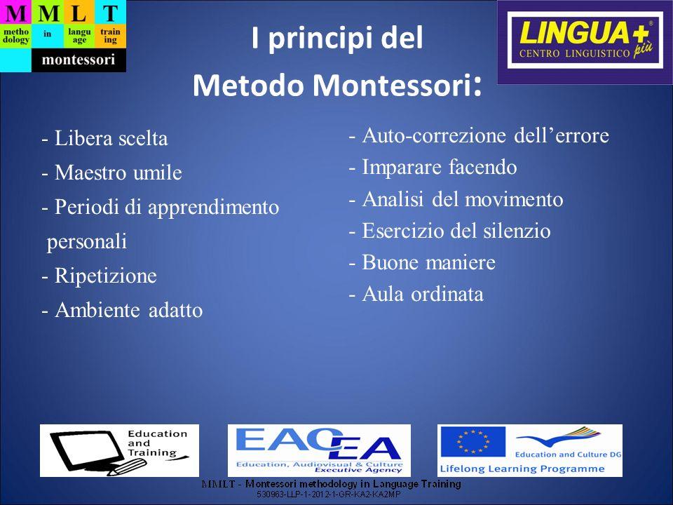 I principi del Metodo Montessori: